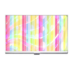 Abstract Stripes Colorful Background Business Card Holders