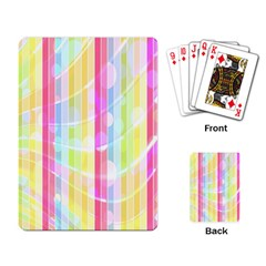 Abstract Stripes Colorful Background Playing Card
