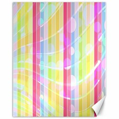 Abstract Stripes Colorful Background Canvas 11  x 14