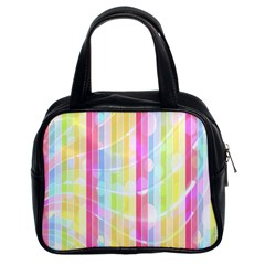 Abstract Stripes Colorful Background Classic Handbags (2 Sides)