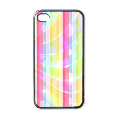 Abstract Stripes Colorful Background Apple iPhone 4 Case (Black)