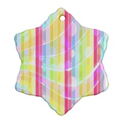 Abstract Stripes Colorful Background Ornament (snowflake)