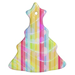 Abstract Stripes Colorful Background Christmas Tree Ornament (Two Sides)