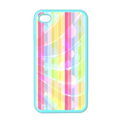 Abstract Stripes Colorful Background Apple iPhone 4 Case (Color)