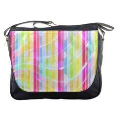 Abstract Stripes Colorful Background Messenger Bags