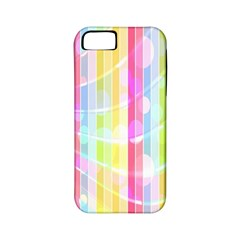 Abstract Stripes Colorful Background Apple Iphone 5 Classic Hardshell Case (pc+silicone)