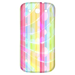 Abstract Stripes Colorful Background Samsung Galaxy S3 S III Classic Hardshell Back Case