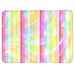 Abstract Stripes Colorful Background Samsung Galaxy Tab 7  P1000 Flip Case