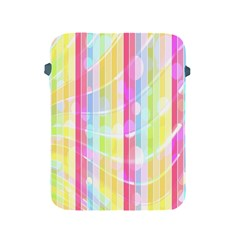 Abstract Stripes Colorful Background Apple iPad 2/3/4 Protective Soft Cases