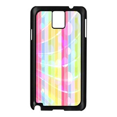 Abstract Stripes Colorful Background Samsung Galaxy Note 3 N9005 Case (Black)
