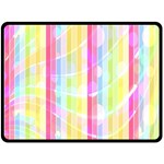 Abstract Stripes Colorful Background Double Sided Fleece Blanket (Large)  80 x60 Blanket Back