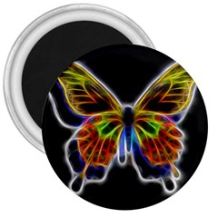 Fractal Butterfly 3  Magnets