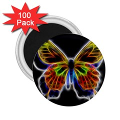 Fractal Butterfly 2 25  Magnets (100 Pack)