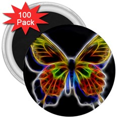 Fractal Butterfly 3  Magnets (100 pack)