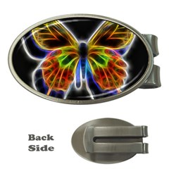 Fractal Butterfly Money Clips (Oval)