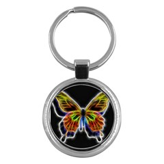 Fractal Butterfly Key Chains (round)