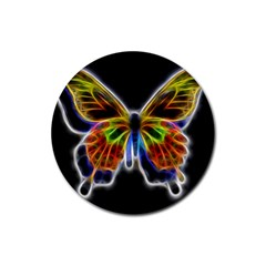 Fractal Butterfly Rubber Coaster (round)