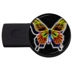 Fractal Butterfly Usb Flash Drive Round (2 Gb)
