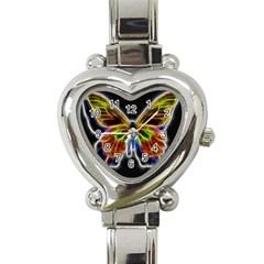 Fractal Butterfly Heart Italian Charm Watch