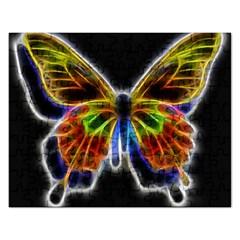 Fractal Butterfly Rectangular Jigsaw Puzzl