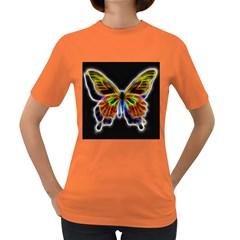 Fractal Butterfly Women s Dark T-Shirt