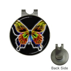 Fractal Butterfly Hat Clips With Golf Markers