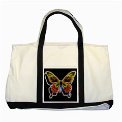 Fractal Butterfly Two Tone Tote Bag