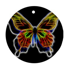 Fractal Butterfly Round Ornament (Two Sides)