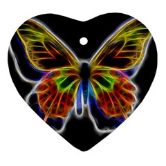 Fractal Butterfly Heart Ornament (two Sides)