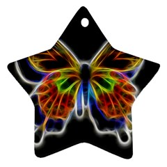 Fractal Butterfly Star Ornament (Two Sides)