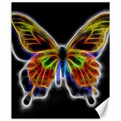 Fractal Butterfly Canvas 8  x 10