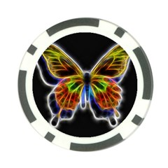 Fractal Butterfly Poker Chip Card Guard (10 Pack)