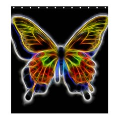 Fractal Butterfly Shower Curtain 66  x 72  (Large)