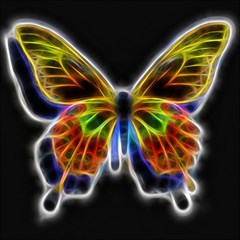Fractal Butterfly Magic Photo Cubes