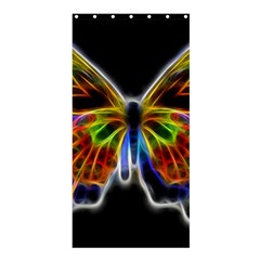 Fractal Butterfly Shower Curtain 36  x 72  (Stall)