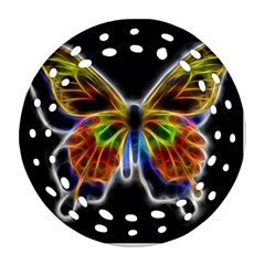 Fractal Butterfly Ornament (Round Filigree)