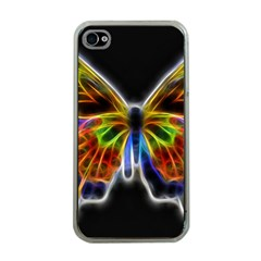 Fractal Butterfly Apple iPhone 4 Case (Clear)
