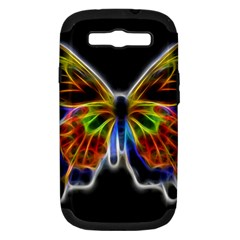 Fractal Butterfly Samsung Galaxy S III Hardshell Case (PC+Silicone)