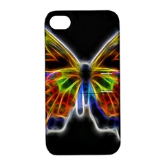 Fractal Butterfly Apple iPhone 4/4S Hardshell Case with Stand