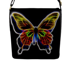 Fractal Butterfly Flap Messenger Bag (l)