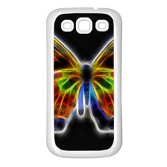 Fractal Butterfly Samsung Galaxy S3 Back Case (White)