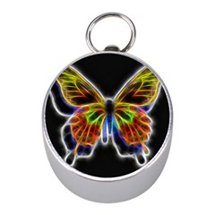 Fractal Butterfly Mini Silver Compasses