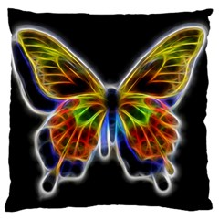 Fractal Butterfly Large Flano Cushion Case (One Side)