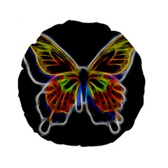 Fractal Butterfly Standard 15  Premium Flano Round Cushions