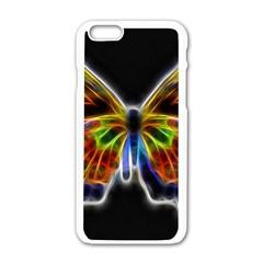 Fractal Butterfly Apple iPhone 6/6S White Enamel Case