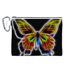 Fractal Butterfly Canvas Cosmetic Bag (L)