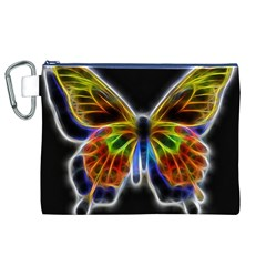Fractal Butterfly Canvas Cosmetic Bag (XL)