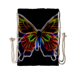 Fractal Butterfly Drawstring Bag (Small)