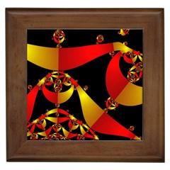 Fractal Ribbons Framed Tiles