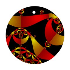 Fractal Ribbons Ornament (round)